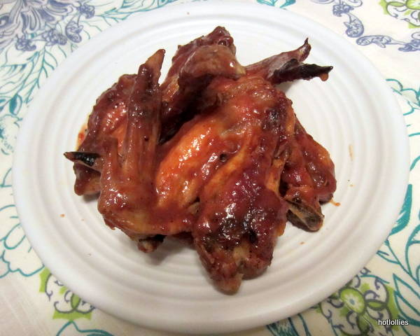 Spicy honey BBQ wings