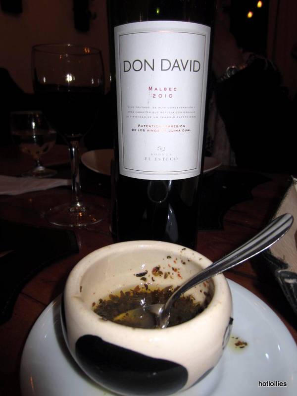 Don David Malbec at Alberto's